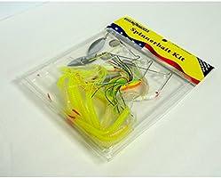 """Luck /""""E/"""" Strike Spinnerbait 15-Piece 3//8oz Spinner Bait Kit Bass Fishing Lures"""