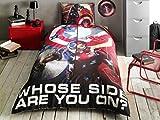 Captain America Movie Ranforce Duvet Quilt Cover Set Licenced Product