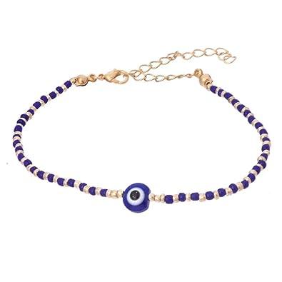 mode designer 67b92 e0dbc Bracelet Porte Bonheur Oeil Et Perles De Rocaille Bijou ...