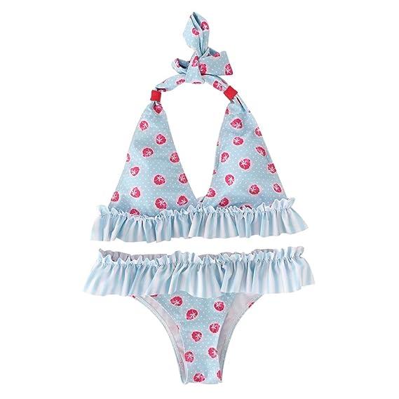e65ee8c28568 FnieYxiu Swimwear, Fashion Summer Flower Print Ruffle Bikini Set ...