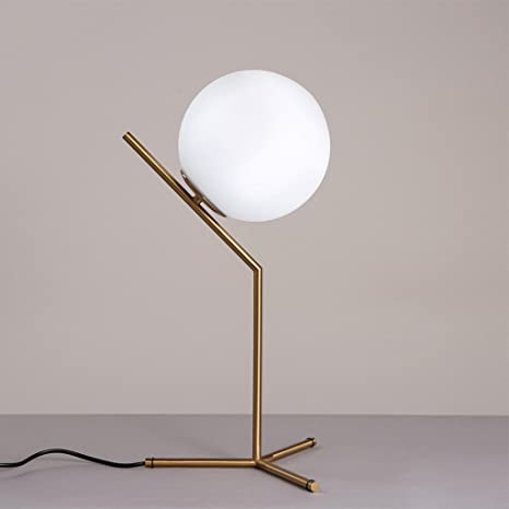 Lámpara de mesa de cristal de estilo moderno Lámpara de mesa ...