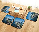 Egg Crate Foam Canada UHOO2018 Elastic Cushions Chairs View of Vancouver British Columbia Canada for Living Rooms W29.5 x L29.5/4PCS Set