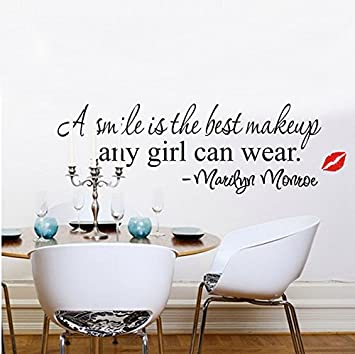 Soledi® A Smile Is The Best Makeup Any Girl Can Wear Marilyn Monroe Wall  Decor