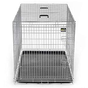 zoomundo Portador Jaula Plegable Metálica para Mascotas para Perros Gatos Tamaño XXL (2 Puertas)