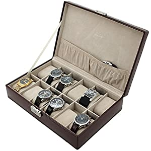 Tech Swiss TS2890BRN Storage Case Watch Box Watch Case