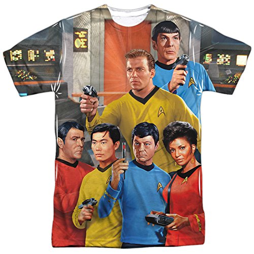 Star Trek Bridge Crew Single Side Sublimation Print Adult T-shirt