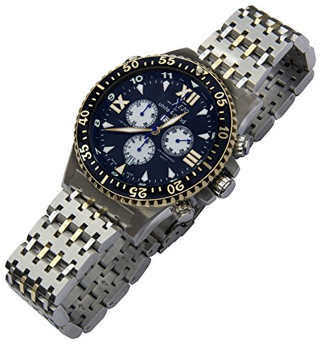 Xezo men 39 s air commando swiss quartz luxury sport chronograph designer wrist watches 2nd time for Xezo watches