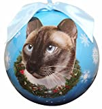 Siamese Cat Christmas Ornament Shatter Proof Ball Easy To Personalize A Perfect Gift For Siamese Cat Lovers