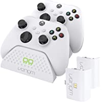 Venom Twin Charging Dock with 2 x Rechargeable Battery Packs - White (Xbox Series X & S/Xbox One)