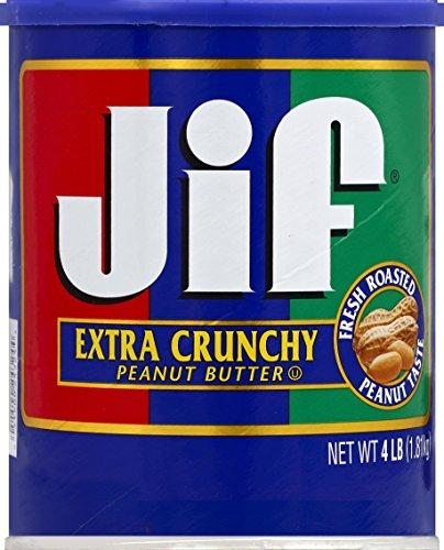 Jif Extra Crunchy Peanut Butter, 4 Pound