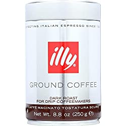 illy Dark Roast Ground Coffee for Drip Coffeemakers made by illy
