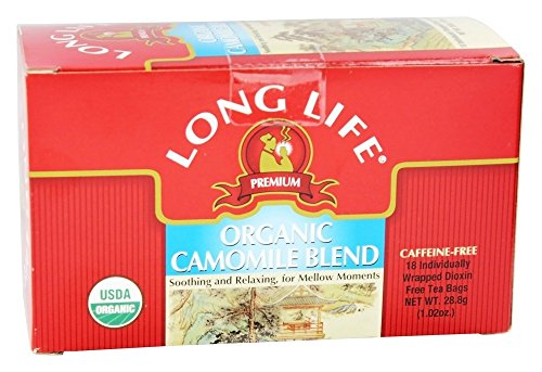 Long Life Teas - Organic Camomile Blend - 18 Tea Bags