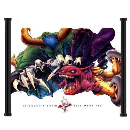 Final Fantasy III/Final Fantasy VI Game Fabric Wall Scroll P