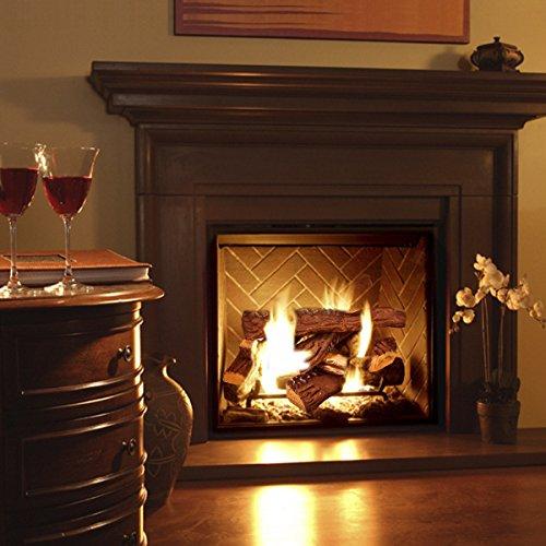 Barton Fireplace Decoration Petite Ceramic Wood, Gas Fireplace Log Set, 10 Piece by Barton (Image #1)