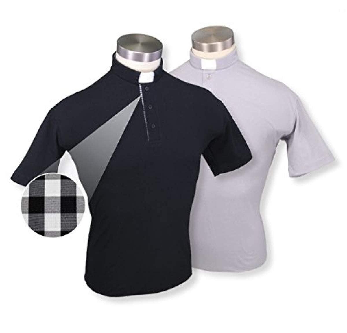 58bff6591 Liturgical Creations Mens European Cotton Short Sleeve Clergy Polo Shirt