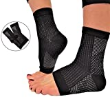 RiptGear Plantar Fasciitis Socks for Women and Men - 1 Pair Plantar Fasciitis Sleeves for Heel and Foot Pain with Ankle Compression - Small