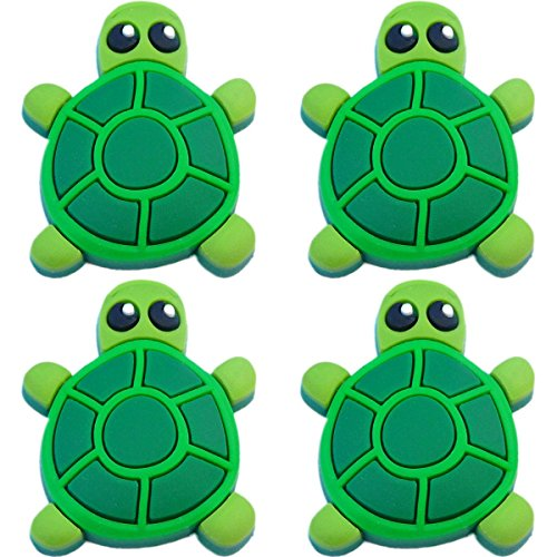 Four (4) of Turtle Rubber Charms for Wristbands and Shoes
