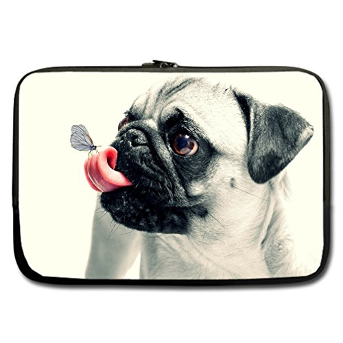 JIUDUIDODO Custom Lovely Dog Water Resistant Neoprene Computer Bag Sleeve for Laptop 15