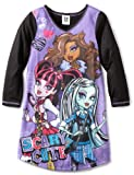 Komar Kids Little Girls'  Cute And Scary Night Gown, Black, 6/6x