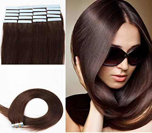 Bette Hair Tape In Hair Extensions 100% Remy Straight Human Hair Full Head...