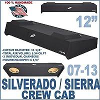 Chevy Silverado GMC Sierra Crew Cab Truck 12 Sub Box Subwoofer Enclosure