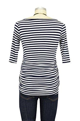 Baju Mama - Polo - para mujer Navy & White Stripes