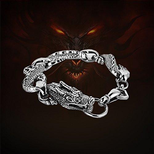 Punk wave of three-dimensional dragon bracelet men domineering personality punk rock metal head super sportsman
