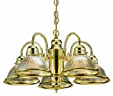 Kitchen Lighting Fixtures Ideas Design House 500546 Millbridge 5 Light Chandelier, Polished Brass