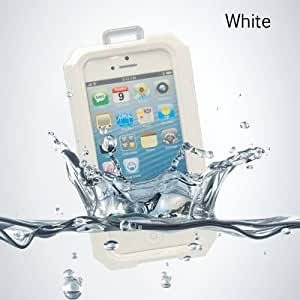 IPX8 Waterproof Pouch Case Cover With Silicone Front Skin For iPhone 5 5S (White)
