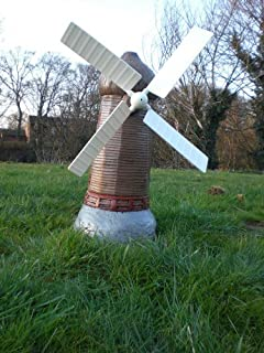 Large stone windmill garden statues ornament great look gift free uk great looking stone windmill free delivery uk mainland workwithnaturefo