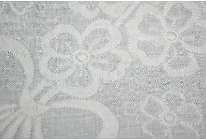 Mantel redondo bordado a Mano Lino Puro-tallar y flores 12-280 ...