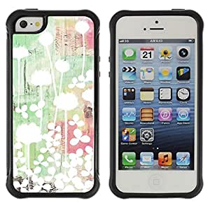 LASTONE PHONE CASE / Suave Silicona Caso Carcasa de Caucho Funda para Apple Iphone 5 / 5S / Art Light Bright Minimalist Green