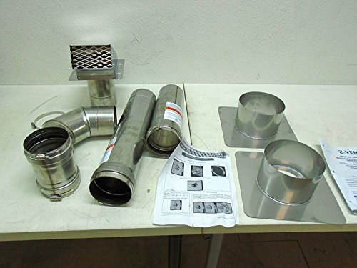 Z-Flex 2ZVW04 4'' Horizontal Stainless Steel Z-Vent Water Heater Vent Kit by Z-Flex