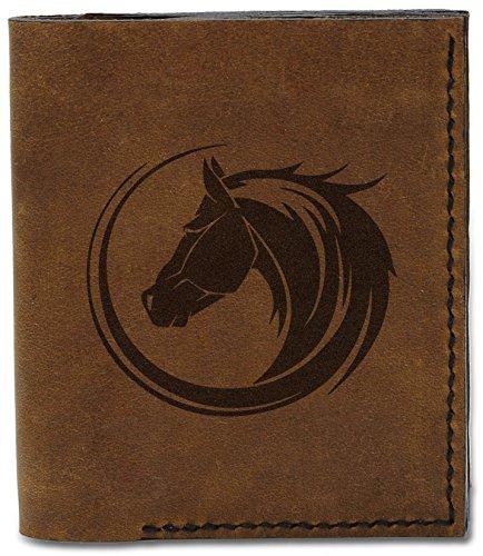 Natural Tribal Genuine b MHLT Tribal Wallet Men's Horse 6 Leather Handmade Horses 04 4Awtqtxza