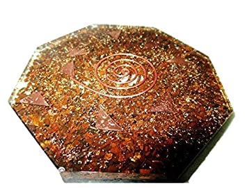 New Tiger Eye Orgone Octagon Vastu Plate Energy Generator Crystal Gemstones  Unique