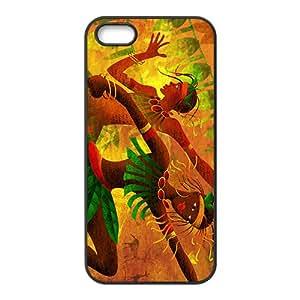 Creative Joyful Leaves Men Custom Protective Hard Phone Cae For Iphone 5s