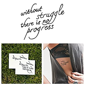 Amazoncom Tattify Inspirational Quote Temporary Tattoo Progress