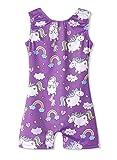 kids leotards - Leotards for Girls Gymnastics Unicorn 4t 5t 4-5 Years Old Rainbow Purple Unitards