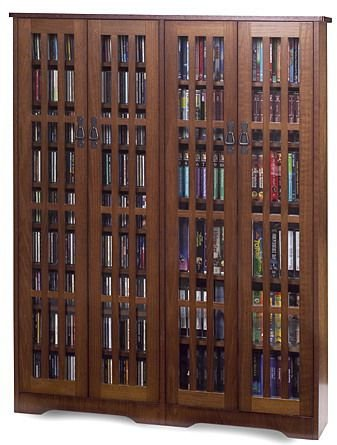 Bon Leslie Dame Double CD,DVD Wall Rack Media Storage In Walnut