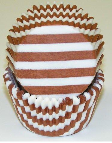 Brown White Swirl - Cakesupplyshop Ck8yu2 - 50pack Brown & White Stripes & Swirl Standard Cupcake Baking Cup Liners