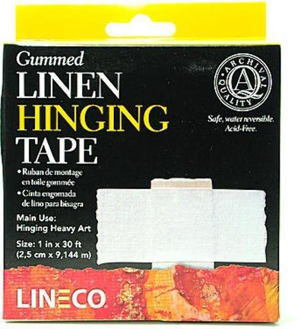 Lineco Gummed Linen Tape (1 In. x 30 Ft.) 1 pcs sku# 1830332MA