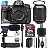 Holiday Saving Bundle for D610 DSLR Camera + 18-140mm VR Lens + Battery Grip + 2yr Extended Warranty + 16GB Class 10 + 72 Monopod + UV Filter + Cleaning Kit + Cleaning Brush - International Version