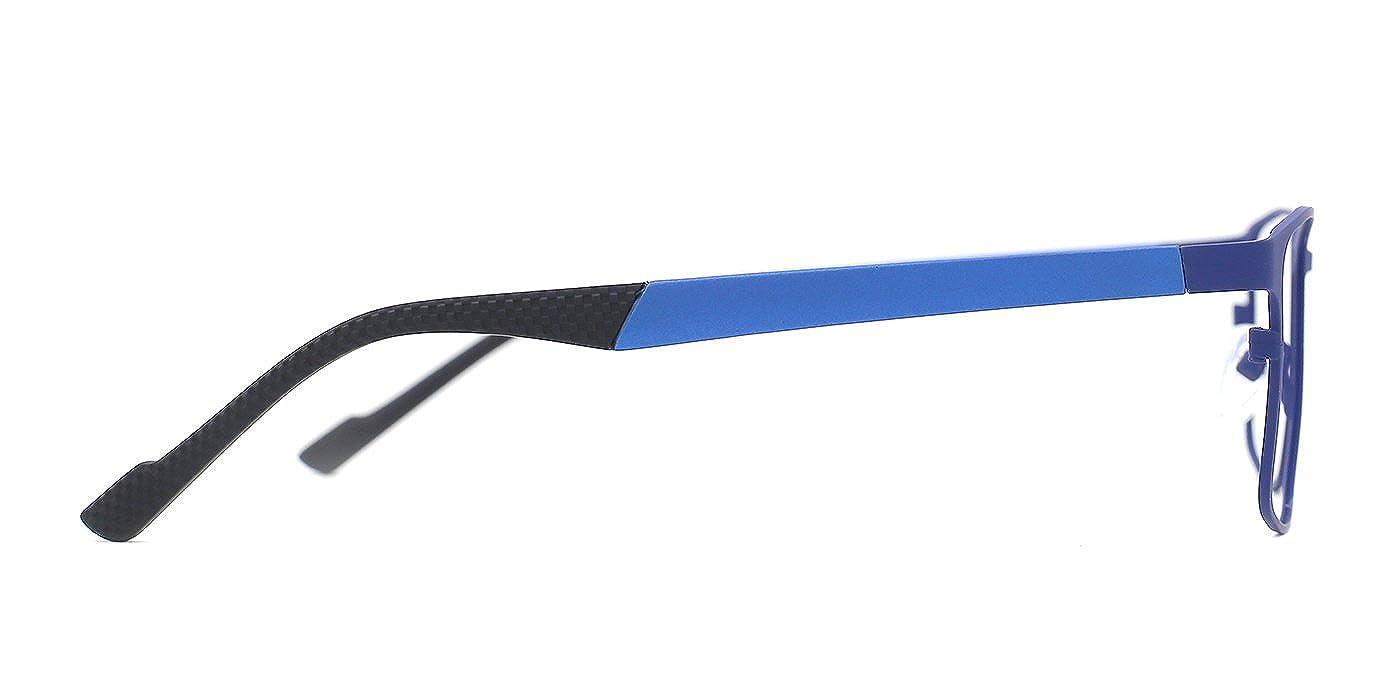 TIJN Full-bodied Metallic Thin Frame Eyeglasses for Men