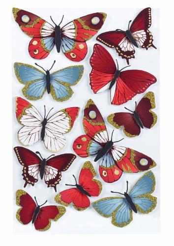 Martha Stewart Crafts Decorative Stickers, Elegant Nature Metallic Butterflies