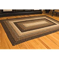 IHF Home Decor Braided Area Rug Rectangle 3 x 5 Feet Stallion Design Jute Fabric