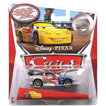 Disney Cars Metallic Finish Series - Jeff Corvette Vehicle