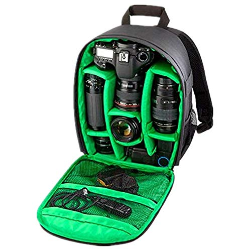 Camera Backpack,Han Shi Bag Waterproof DSLR Case for Canon for Nikon for Sony (A, L)