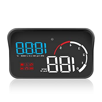 MeterMall Coche OBD2 Hud Head Up Display velocímetro Digital HUD ...