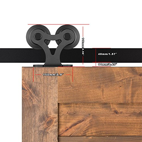 Ccjh T Shaped With Two Rollers Sliding Barn Door Hardware Wood