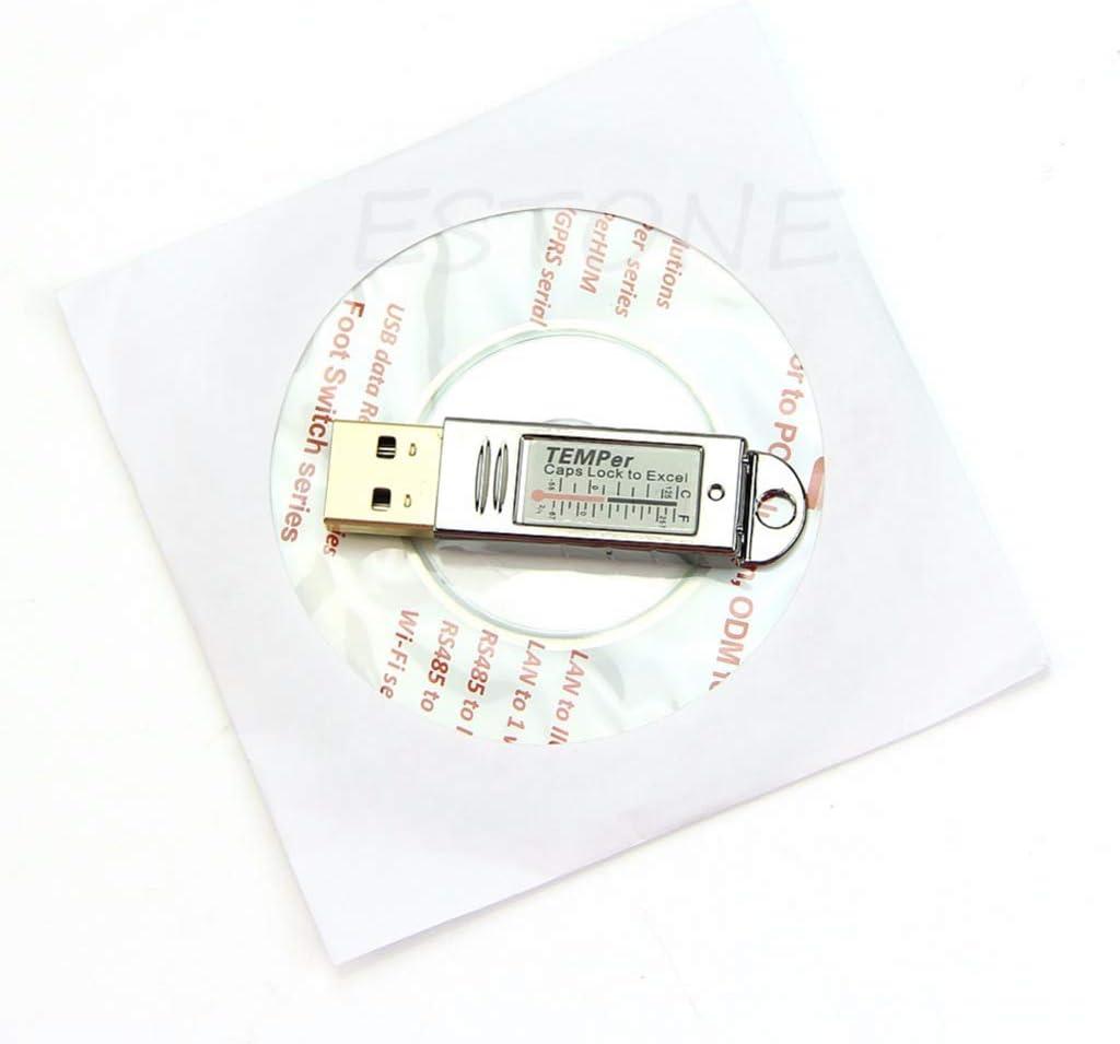 Dsxnklnd USB Sensor Control Alarm Temperature Measurement Thermometer Mini Data Logger Tester